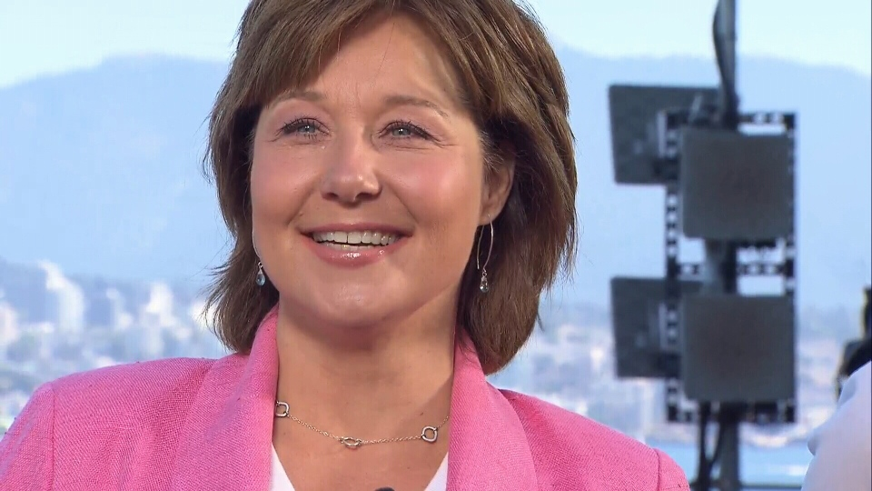Outgoing BC Liberal leader Christy Clark speaks with reporters about her post-resignation plans. July 31, 2017. (CTV)