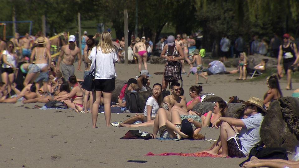 heat wave beach