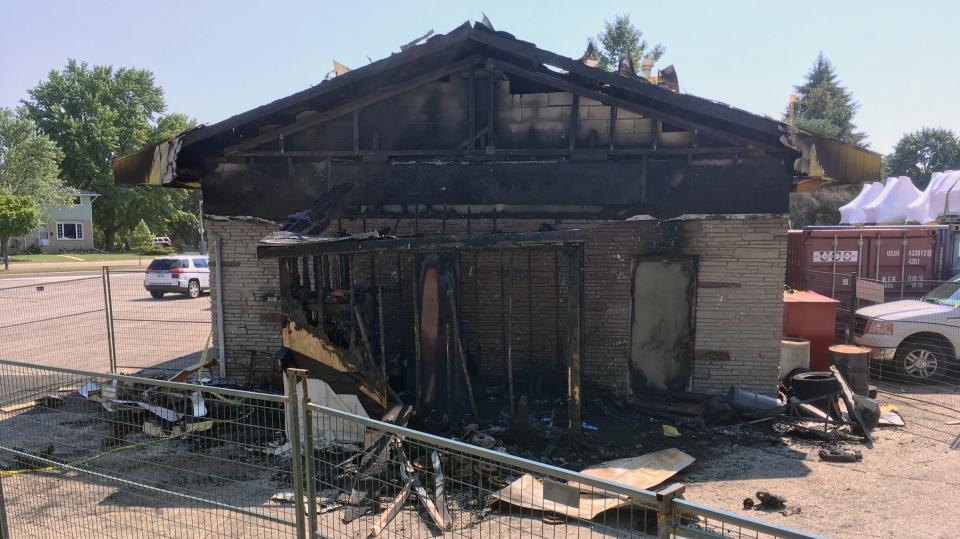 Waterloo shed fire