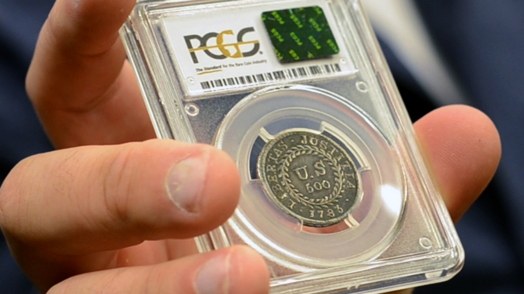 Man claims to own first coin minted by U.S.