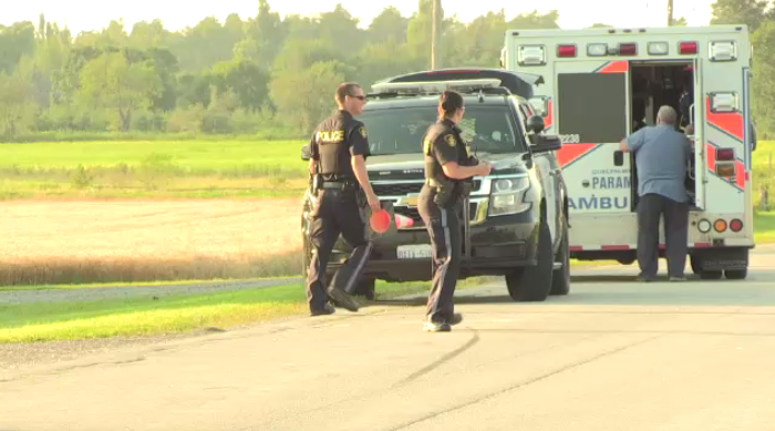 Two people were hurt after a crash west of Arthur Monday evening.