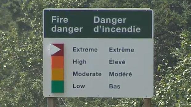 Fire risk in Alberta