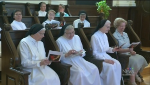 About 100 women are members of the Augustinian Sisters, the order that founded Canada's first hospital in 1639.