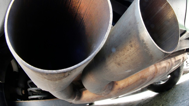 VW car exhaust