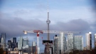 The CN Tower can be seen in the Toronto skyline in Toronto, Ontario on Tuesday, April 25, 2017. THE CANADIAN PRESS/Cole Burston