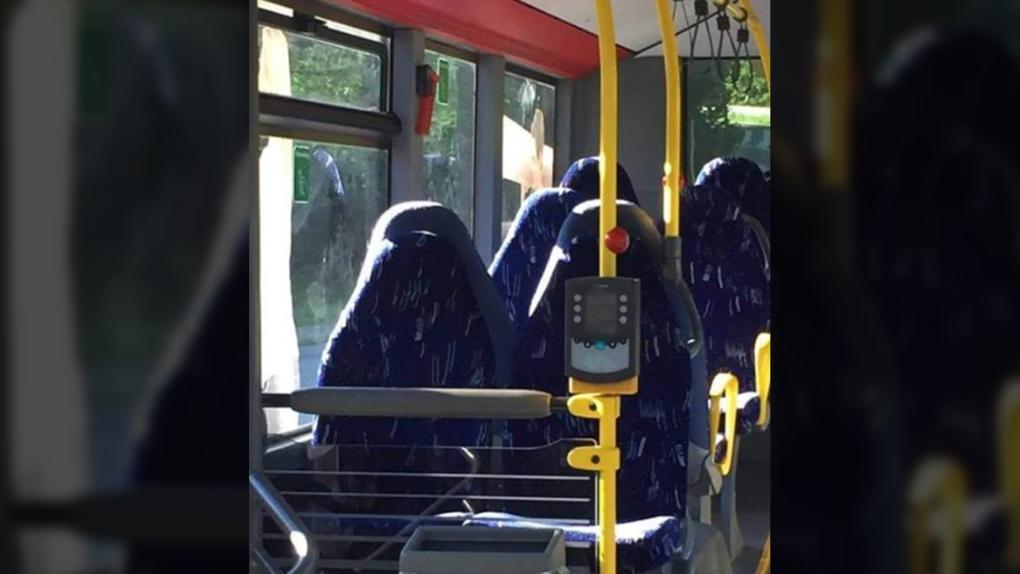 Bus seat burqas
