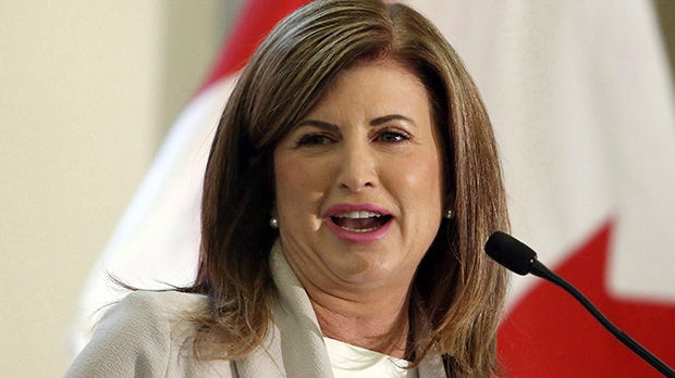 Conservative Interim leader Rona Ambrose speaks in Ottawa on Tuesday May 16, 2017. THE CANADIAN PRESS/Fred Chartrand