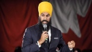 Ontario deputy NDP leader Jagmeet Singh launches his bid for the federal NDP leadership in Brampton, Ont., on Monday, May 15, 2017. Federal NDP leadership hopefuls will make a critical pitch tonight to supporters in British Columbia, a province where party members are finding renewed hope after the swearing-in of NDP Premier John Horgan.THE CANADIAN PRESS/Nathan Denette