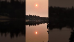 Kathleen Burton snapped this picture of the smoky sunrise over Swan Lake Christmas Hill Nature Sanctuary in Saanich Wednesday, Aug. 2, 2017.