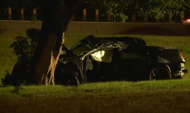 Single vehicle crash on Hwy 417 at Nicholas