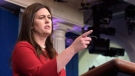White House press secretary Sarah Huckabee Sanders speaks during the daily briefing at the White House in Washington, Wednesday, Aug. 2, 2017. (AP Photo/Susan Walsh)