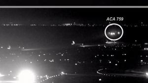 Air Canada jet's near miss