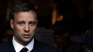 Oscar Pistorius leaves the High Court in Pretoria, South Africa, Wednesday, June 15, 2016, after his sentencing proceedings. (Themba Hadebe/AP)
