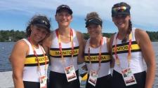 Team Manitoba women's rowing team