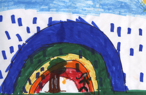 Weather art by Shalyanna, from T.E. Scott Elementary.