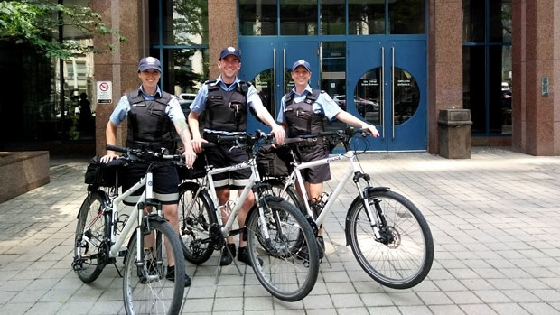 Parking enforcement officer Kyle Ashley and his new crew Bike Lane Support Squad. (Twitter/Kyle Ashley/@TPS_ParkingPal)