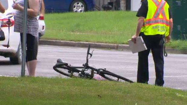 The collision happened just before 8:30 a.m. at the intersection of Erb Street and Margaret Avenue.