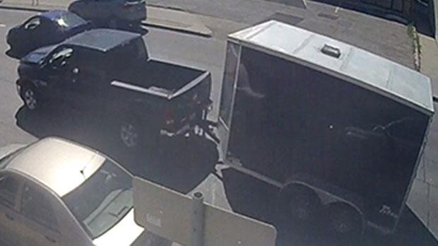 Suspect truck involved