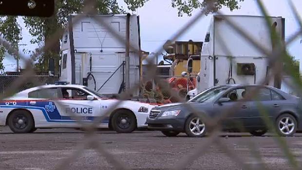 police, truck