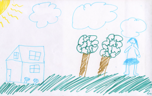 Weather art by Lili, age 8, from Lord Baden Powell.