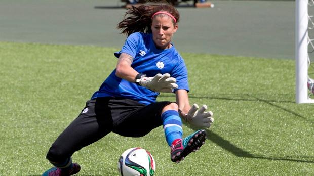 Canadian women's goalkeeper shoots for spot on men's team ...
