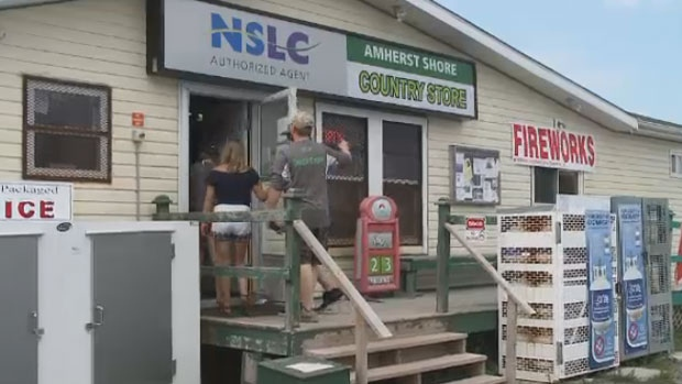 The Amherst Shore County store is a popular spot for residents and tourists along the Sunrise Trail.