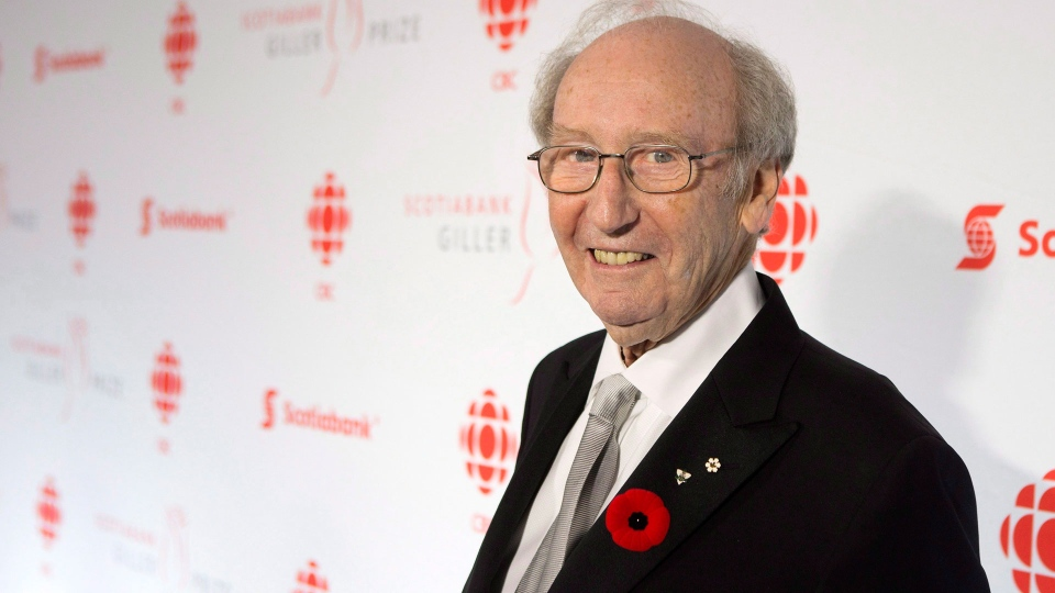 Jack Rabinovitch, Founder of the Giller Prize arrives on the red carpet at Giller Prize Gala in Toronto on Tuesday November 10, 2015. THE CANADIAN PRESS/Chris Young
