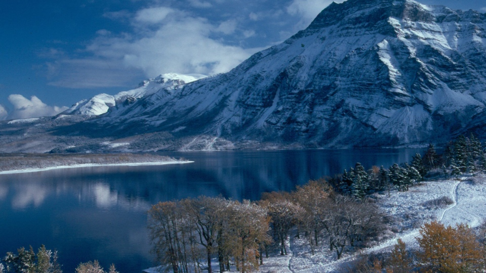 This undated photo provided by Kilmorey Lodge shows Vimy Mountain and Waterton Lake from Waterton Lakes National Park, Alberta, Canada. (AP Photo/Kilmorey Lodge)