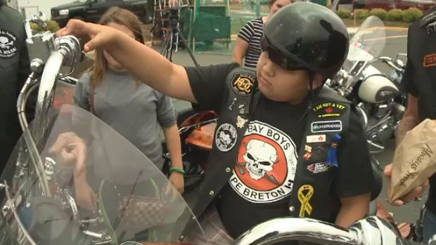 Rose volunteered along with his new friends at a bike rally in Membertou on Sunday, Aug. 6.