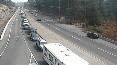 Malahat fire tells CTV News there's been a crash in the southbound lanes, south of the Shawnigan Lake turnoff.