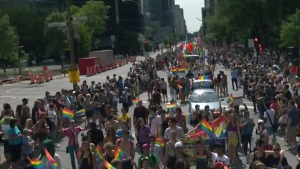 The 2017 Montreal Pride parade will run 3 km along René Levesque Blvd.  from Drummond St. to Alexandre DeSeve St.