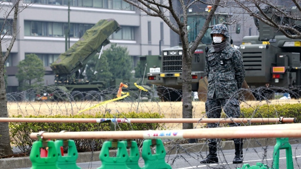 PAC-3 Patriot missile unit in Tokyo