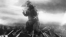 A scene from the 1954 film 'Godzilla'