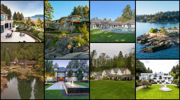 From $63M estate in Vancouver to a lavish, oceanfront home in Surrey, CTVNews.ca takes a look at the 11 most expensive homes in British Columbia. <br><br> List provided by www.point2homes.com