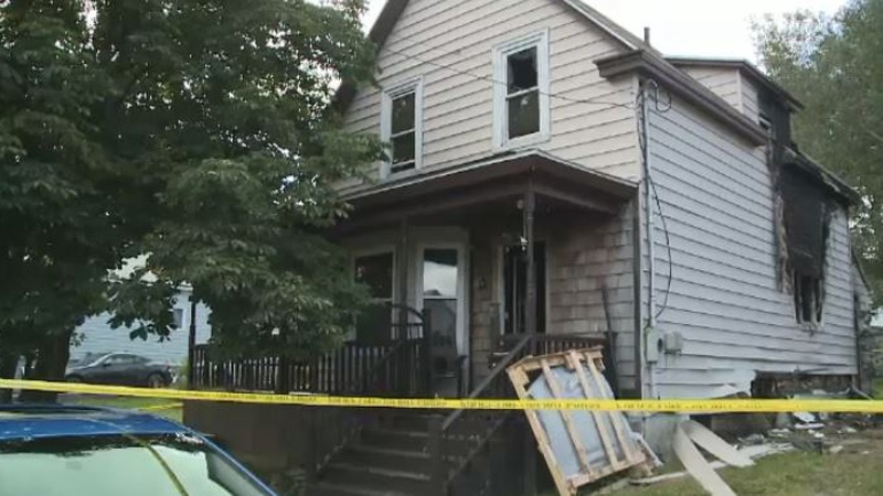 Police in Cape Breton are investigating a suspicious fire that destroyed the home of murder suspect Kimberley O'Dea.