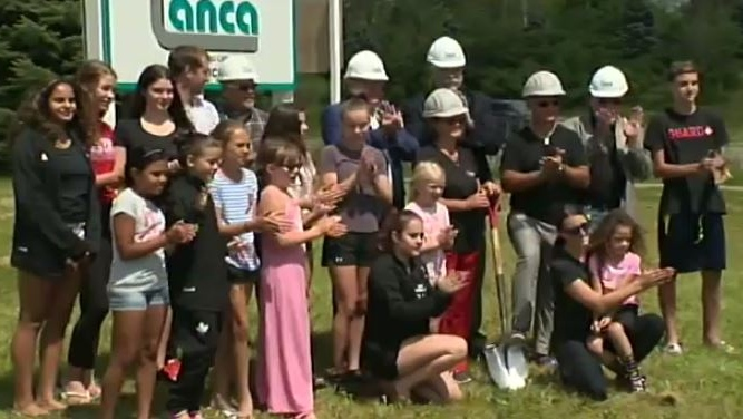 A ceremonial groundbreaking was held to kick off construction of the new Brantford Gymnastics Academy building.