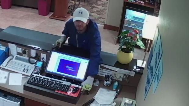 Hotel robbery surveillance