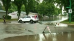 Afternoon rain flash floods Saskatoon streets