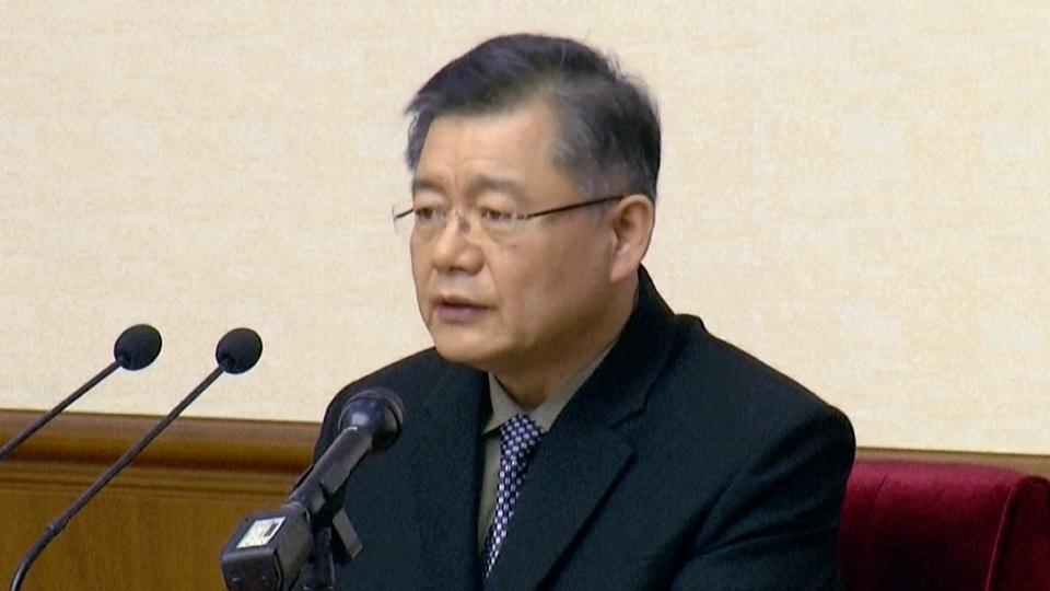 In this file image made from July 30, 2015, video, Canadian Hyeon Soo Lim speaks in Pyongyang, North Korea. (AP Photo)