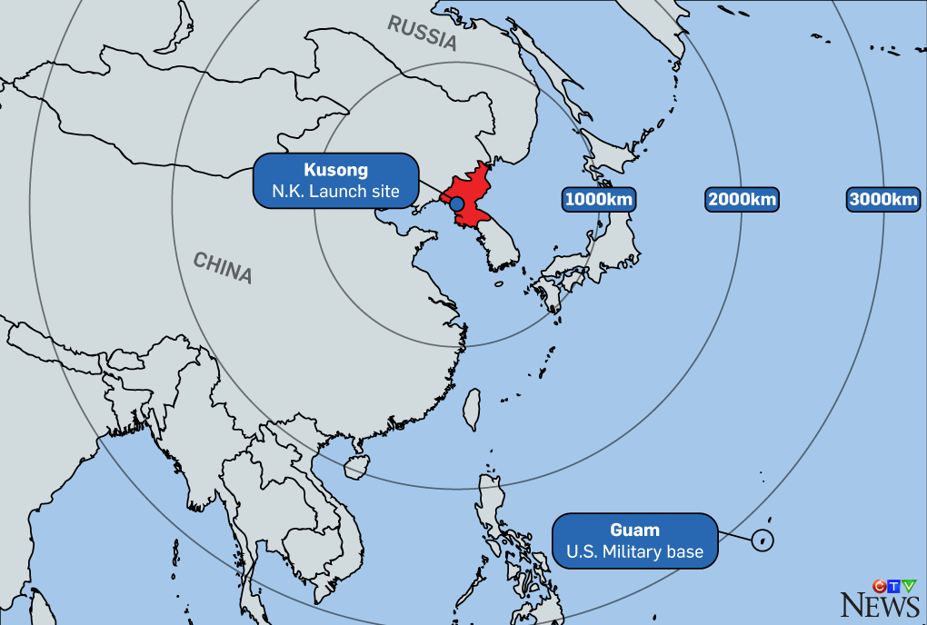 Everything you need to know about north koreas missile program north korea guam map gumiabroncs Gallery