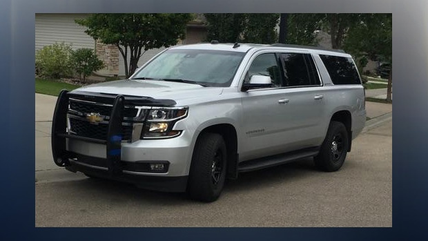 RCMP released a generic image showing a Chevrolet Suburban they are seeking as part of this investigation, the vehicle has an Alberta licence plate: BWL 2384. Supplied.