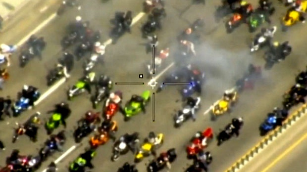 'Motorcycle mob' wanted for risky activity on Ont. highways