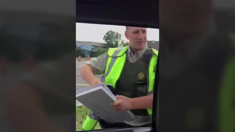 The SQ officer gave David Warren a $482 ticket and had his car towed.