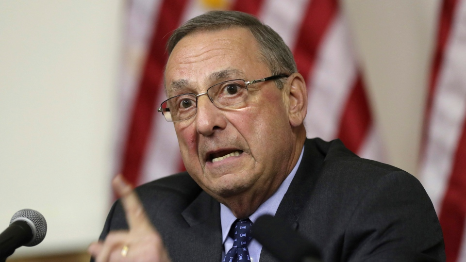 In this March 8, 2017, file photo, Maine Gov. Paul LePage speaks at a town hall meeting in Yarmouth, Maine. (AP Photo/Robert F. Bukaty, file)