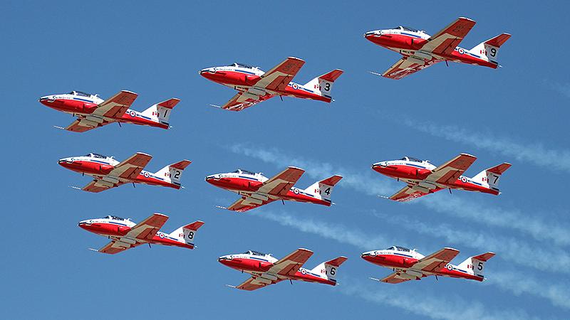 Digital Picture Aircraft Plane Photo Snowbirds