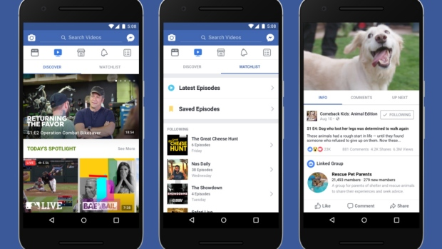 Facebook envisions 'Watch' feature as TV for social media