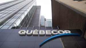 Quebecor headquarters are shown during the company's annual general meeting in Montreal, Thursday, May 12, 2016. (THE CANADIAN PRESS/Graham Hughes)