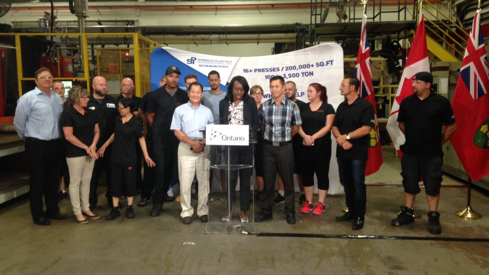 Minister of Education Mitzie Hunter announces $3Million grant to 10 local businesses in Windsor-Essex. (Stefanie Masotti / CTV Windsor)
