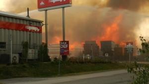 Abbotsford lumber yard fire