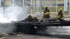 Petro-Canada Bowfort Road - trailer fire